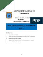 Reglamento Estudiante Examen General 2015 I