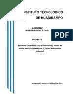 Estudio de Factibilidad de Ing. Industrial