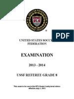 2013-14 Grade 8 Referee Test