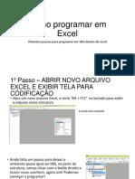 Como Programar Em Excel