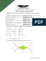 Lista 3 Int. Definida Cálculo de Área