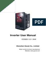 Manual Inversor EDS800