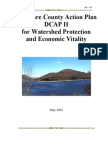 Delaware County Action Plan (DCAP) Report for Watershed Protection & Economic Vitality