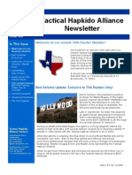 Tactical Hapkido Alliance Newsletter October 2009