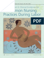 Common Nursing Practices in Labor