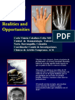 Myths,Realities and Opportunities.Early Rheumatoid arthritis