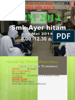 CERAMAH SPM Kelas Tam Cuti Mei 2014