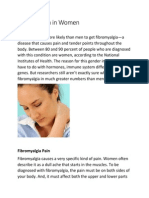 Fibromyalgia in Women -NE