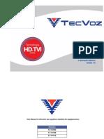 MANUAL DE INSTALAÇÕES E OPERAÇÕES BASICAS HD-TVI