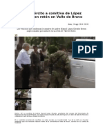 Catea El Ejército a Comitiva de López Obrador en Retén en Valle de Bravo