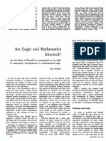 Are Logic and Mathematics Identical