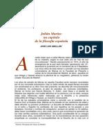 Julián Marías. Un Capítulo de La Filosofía Española