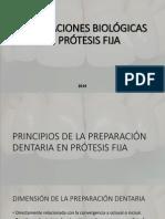 Preparaciones Biológicas en Prótesis Fija 1era Parte - Biomateriales IV 2014