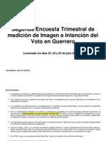 Segunda Encuesta Trimestral de Medición de Imagen e Intención Del Voto en Guerrero