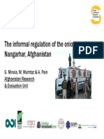 The informal regulation of the onion market in Nangarhar, Afghanistan