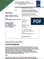 Strafanzeige Manfred Klamm Andreas Klamm Betrug