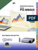 Sharp PG-MB60X Projector Manual