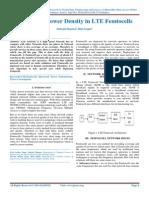 Analysis of Power Density in LTE Femtocells