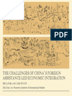 The Challenges of China's Foreign Assistance-led Economics Integration – Sri Lanka as a Case Study –