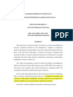 ANALISIS CORPORATE GOVERNANCE TERHADAP INTEGRITAS LAPORAN KEUANGAN