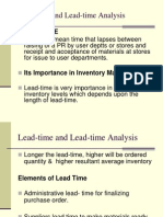 Lead Time and Lead Time Analysis