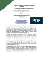 Business Intelligence Maturity Research