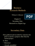 Secondary Data Research in a Digital Age