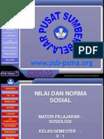 Slide Nilai Dan Norma Sosial