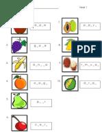 worksheet for yr1