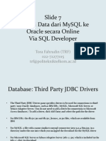 Slide 7 (MySQL Online Ke Oracle Online via SQL Developer)