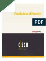 CSCU Module 01 Foundations of Security