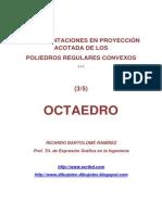 POLIEDROS EN PROYECCIÓN ACOTADA, (3/5) OCTAEDRO