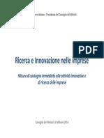 Ricerca e Innovazione Nelle Imprese