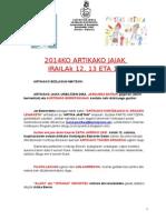 Ultimos Avisos Fiestas 2014al Vecindarioeuskera