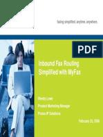Webinar Inbound Fax Routing