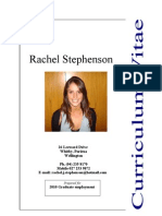 Rachel CV 2009 Updated and Improved