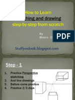 How to learn sketching and drawing step-by-step for beginners