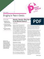 Struggling for Peace in Somalia