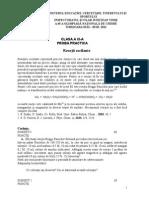 Chimie - Etapa Nationala (Subiect proba practica. Clasa a XI-a )