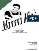 Mamma Mia Menu 1209