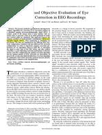 Model Based Objective Evaluation of Eye Movement Correction in EEG