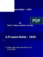 AP Leave Rules