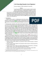An Architecture for Generating Semantic-Aware Signatures
