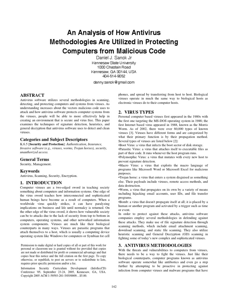an analysis of the misconceptions about the computer viruses Case analysis kaspersky lab concerning one of the fastest killing viruses, the ebola virus individual's mind because of the amount of misconceptions about.