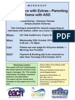 adolescence with extras - parenting teens with asd   workshop