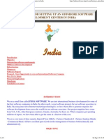 Business Plan for Offshore Software Development Center in India