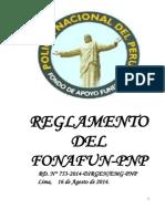 Reglamento Fonafun Pnp