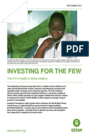 Investing for the Few: The IFC's Health in Africa initiative