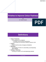 Finishes to Improve Colour Fastness