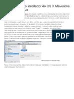 Como Colocar o Instalador Do OS X Mavericks Em Um Pen Drive